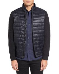 Zachary Prell - Beacon Trim Fit Quilted Cable Knit Zip Jumper - Lyst