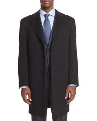 Canali - Classic Fit Wool & Cashmere Topcoat - Lyst