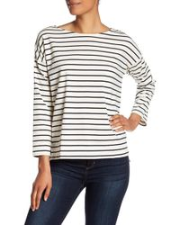 French Connection - Spring Time Striped 3/4 Sleeve Top - Lyst