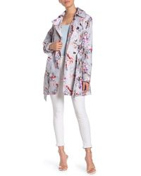 Guess - Floral Trench Coat - Lyst