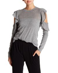 BCBGeneration - Pointelle Ruffle Sweater - Lyst