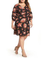 Dorothy Perkins - V-neck Floral Print Dress (plus Size) - Lyst
