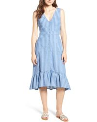 Lost + Wander - Dulce Stripe Ruffle Midi Dress - Lyst