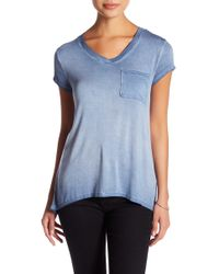 Cable & Gauge - Washed V-neck Tee (petite) - Lyst
