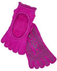 ToeSox - Bella Sangria Socks - Lyst