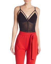 Material Girl - Sleeveless Mesh Bodysuit - Lyst