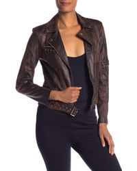 Insight - Faux Leather Studded Moto Jacket - Lyst