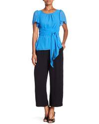 1.STATE - Wide Leg Culotte Pants - Lyst