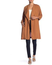 Astr - Rolled Sleeve Oversized Coat - Lyst
