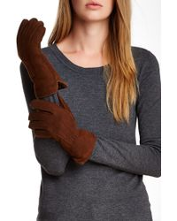 Surell - Genuine Shearling Gloves - Lyst