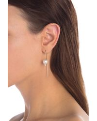 Nadri - Lanai 10mm Freshwater Pearl Crystal Wire Earrings - Lyst