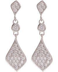 Argento Vivo - Sterling Silver Cz Drop Earrings - Lyst