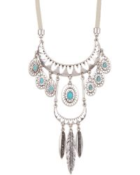 Lucky Brand - Turquoise Pendant Necklace - Lyst
