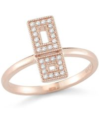 Dana Rebecca - 14k Rose Gold Allison Joy Diamond Ring - Size 6 - 0.13 Ctw - Lyst