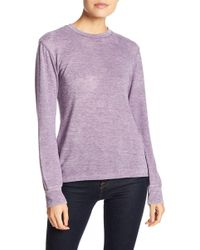 Go Couture - Burnout Knit Sweater - Lyst