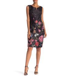 Ignite - Printed Scuba Dress - Lyst
