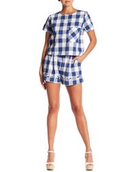 Sugarlips - Gingham Pleated Shorts - Lyst