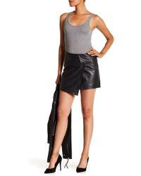 Liebeskind Berlin - Asymmetrical Leather Mini Skirt - Lyst