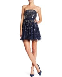 City Triangles - Sequined Party Fit & Flare Dress - Lyst