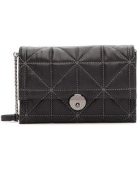 MILLY - Wythe Quilted Leather Crossbody Clutch Bag - Lyst