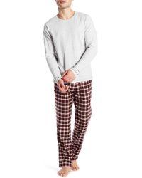 UGG - Steiner Plaid Print 2-piece Pyjama Gift Set - Lyst