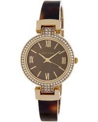 Anne Klein - Women's Swarovski Crystal Embellished Resin Bracelet Watch, 31.5mm - Lyst