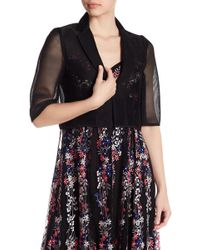Nanette Lepore - Speedway Boogie Lace Cropped Blazer - Lyst