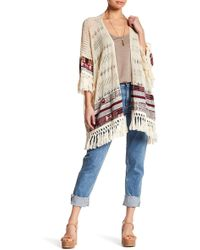 Roffe Accessories - Mixed Media Poncho - Lyst