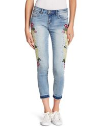 William Rast - Floral Skinny Ankle Jeans - Lyst