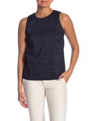 Theory - Emlay Bannon Striped Linen Blend Shell - Lyst
