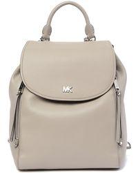MICHAEL Michael Kors - Evie Medium Pebbled Leather Backpack - Lyst
