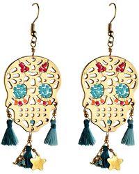 Mishky - Zamak Thread Earrings - Lyst