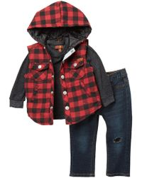 7 For All Mankind - Flannel Vest 3-piece Set (baby Boys) - Lyst