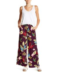 Romeo and Juliet Couture - Wide Leg Floral Pants - Lyst