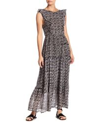 Banjanan - Smocked Leaf Print Maxi Dress - Lyst