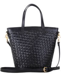 Most Wanted Usa - The Modified Carry All Essential Woven Leather Crossbody Bag - Lyst