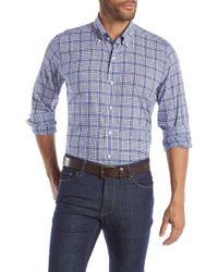 Peter Millar - Seabound Chambray Plaid Regular Fit Shirt - Lyst