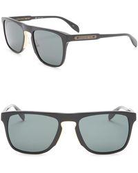 b88277de8c Alexander McQueen - Modified Shield 54mm Sunglasses - Lyst