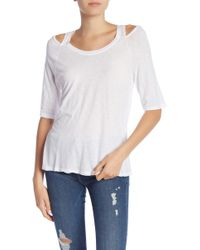 Michael Stars - Cold Shoulder Tee - Lyst