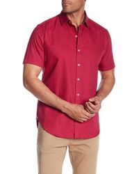 Robert Graham - Windsor Short Sleeve Patterned Regular Fit Shirt - Lyst