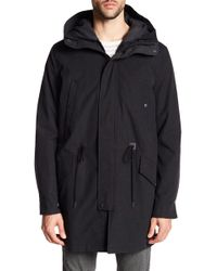 Cole Haan - Ballistic Nylon Coat With Removable Lining - Lyst