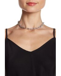 Nadri - Laurel Rhodium Plated Crystal Glass Necklace - Lyst