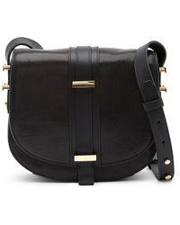 Luana Italy - Marianne Leather Saddle Bag - Lyst