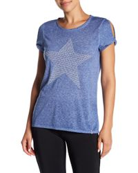 Marc New York - Short Sleeve Embellished Knit Tee - Lyst