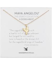 Dogeared | Maya Angelou The Caged Bird Sings Necklace | Lyst