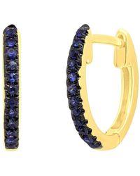Ron Hami - 14k Yellow Gold Sapphire Huggie 11mm Hoop Earrings - Lyst
