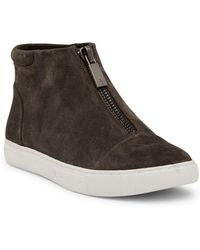 Kenneth Cole - Kayla Front Zip Patent Leather Sneaker - Lyst