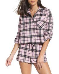 Make + Model - Crop Flannel Pajama Top - Lyst