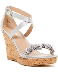 Charles David | Lauryn Satin Wedge Sandal | Lyst