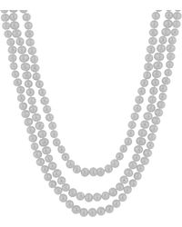 Splendid - Endless Gray 8-9mm Freshwater Pearl Necklace - Lyst